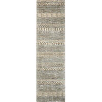 Maya Delta Dolomite Area Rug Rug Size: Runner 23 x 8