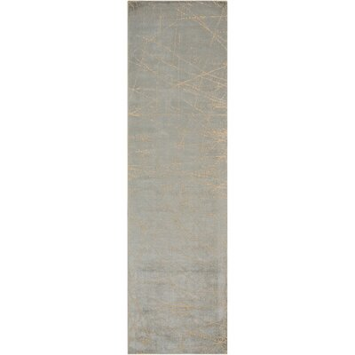Maya Etched Light Mercury Area Rug Rug Size: Runner 23 x 8
