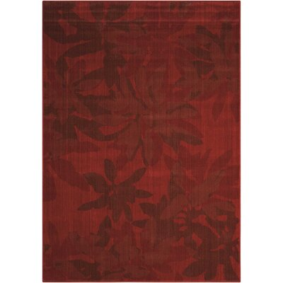 Urban Winter Flower Garnet Area Rug Rug Size: Rectangle 79 x 1010