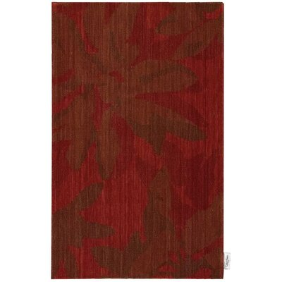Urban Winter Flower Garnet Area Rug Rug Size: 36 x 56