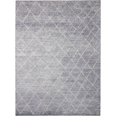 Heath Hand-Woven Gray Area Rug Rug Size: 4 x 6