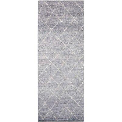 Heath Hand-Woven Gray Area Rug Rug Size: Runner 23 x 76