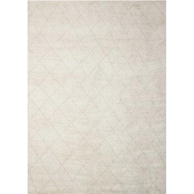 Heath Hand-Woven Beige Area Rug Rug Size: Rectangle 5'3