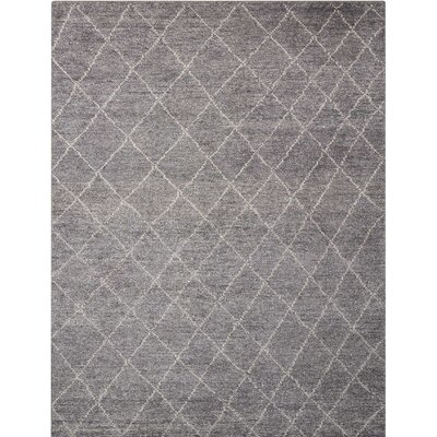 Heath Hand-Woven Gray Area Rug Rug Size: 53 x 75