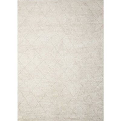 Heath Hand-Woven Beige Area Rug Rug Size: Rectangle 4' x 6'