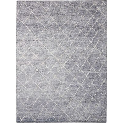 Heath Hand-Woven Gray Area Rug Rug Size: Rectangle 53 x 75