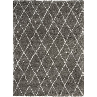 Riad Gray/Ivory Area Rug Rug Size: Rectangle 4 x 6