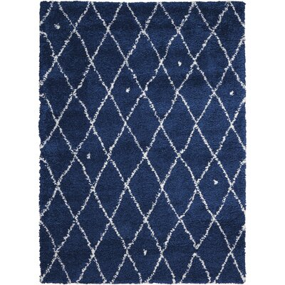 Riad Navy/White Area Rug Rug Size: Rectangle 4 x 6