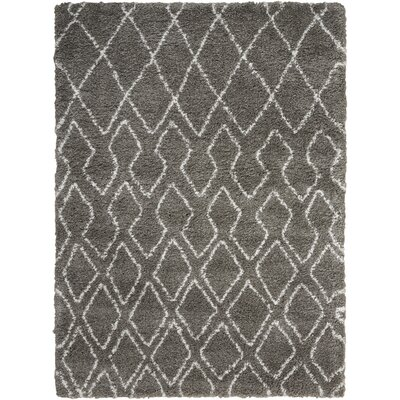 Riad Gray/Ivory Area Rug Rug Size: Rectangle 53 x 73
