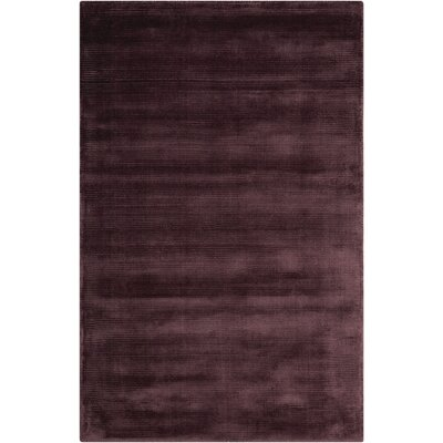 Lunar Hand-Woven Luminescent Rib Amethyst Area Rug Rug Size: Rectangle 36 x 56