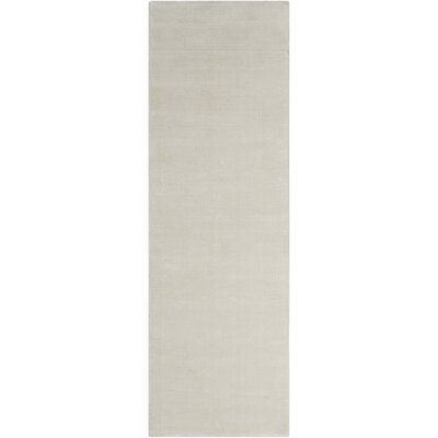 Lunar Hand-Woven Luminescent Rib Beige Area Rug Rug Size: Runner 23 x 75