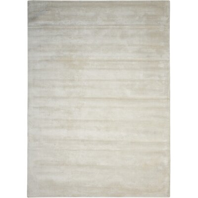 Lunar Hand-Woven Luminescent Rib Beige Area Rug Rug Size: Rectangle 56 x 75