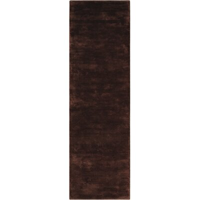Lunar Hand-Woven Luminescent Rib Deep Topaz Area Rug Rug Size: Runner 23 x 75