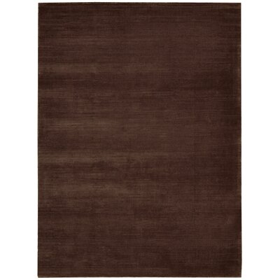 Lunar Hand-Woven Luminescent Rib Deep Topaz Area Rug Rug Size: Rectangle 56 x 75