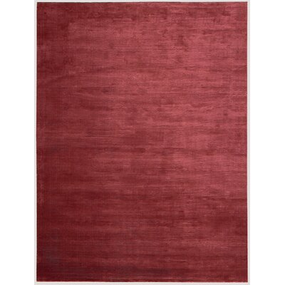 Lunar Hand-Woven Luminescent Rib Garnet Area Rug Rug Size: Rectangle 36 x 56
