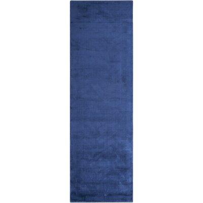 Lunar Luminescent Rib Klein Handmade Blue Area Rug Rug Size: Runner 23 x 75