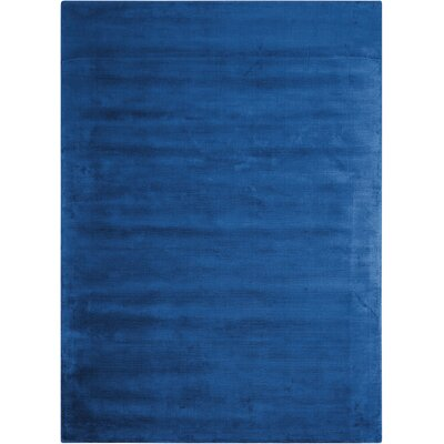 Lunar Luminescent Rib Klein Handmade Blue Area Rug Rug Size: Rectangle 56 x 75