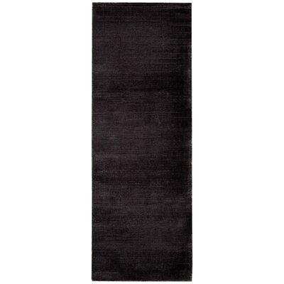 Lunar Hand-Woven Obsidian Area Rug Rug Size: Runner 23 x 75