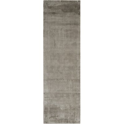 Lunar Hand-Loomed Gray Area Rug Rug Size: Runner 23 x 75