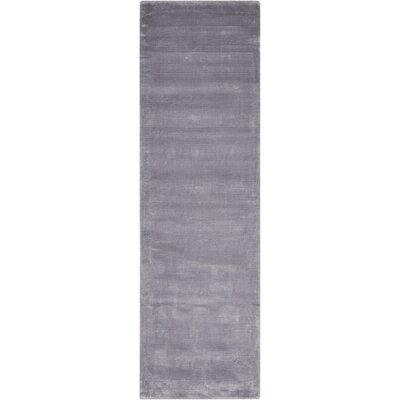 Lunar Hand-Woven Luminescent Rib Platinum Area Rug Rug Size: Runner 23 x 75