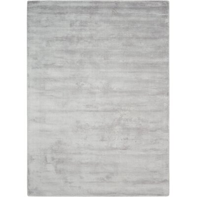 Lunar Hand-Woven Luminescent Rib Platinum Area Rug Rug Size: Rectangle 36 x 56