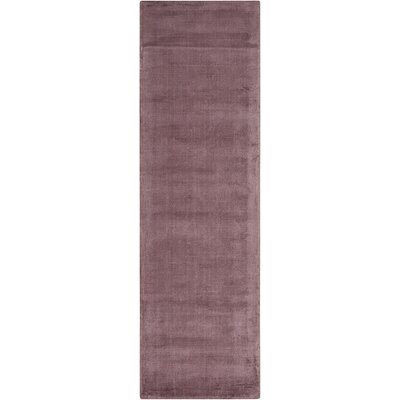 Lunar Hand-Woven Luminescent Rib Purple Area Rug Rug Size: Runner 23 x 75