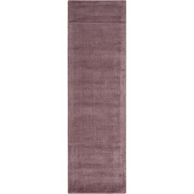 Lunar Hand-Woven Luminescent Rib Purple Area Rug Rug Size: Runner 23 x 75