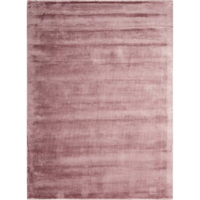 Lunar Hand-Woven Luminescent Rib Purple Area Rug Rug Size: 56 x 75