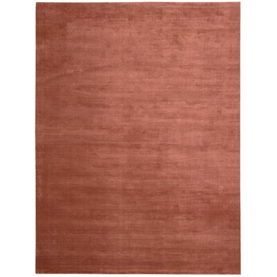Lunar Hand-Woven Luminescent Rib Rust Area Rug Rug Size: Rectangle 36 x 56