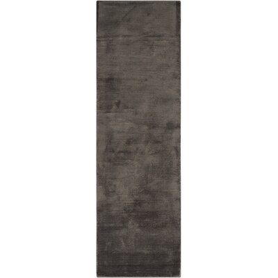 Lunar Hand-Woven Luminescent Rib Onyx Area Rug Rug Size: Runner 23 x 75