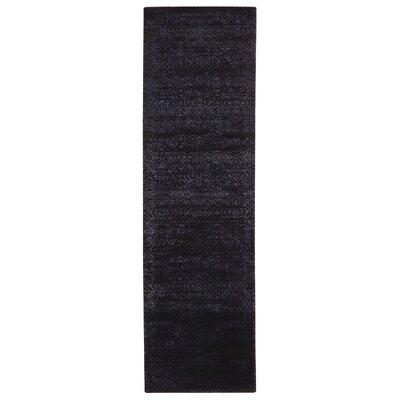 Maya Tabriz Hand Woven Wool Nightshade Area Rug Rug Size: Runner 23 x 8