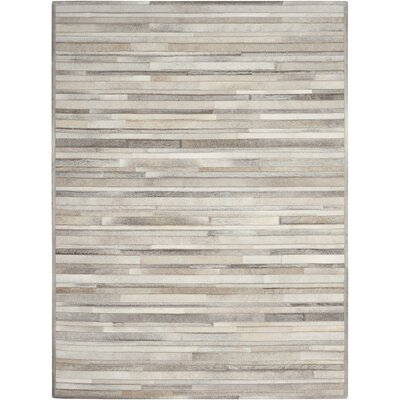 Prairie Hand-Woven Arctic Silver Area Rug Rug Size: Rectangle 56 x 75