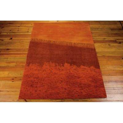 Luster Wash Orange Area Rug Rug Size: 4 x 6