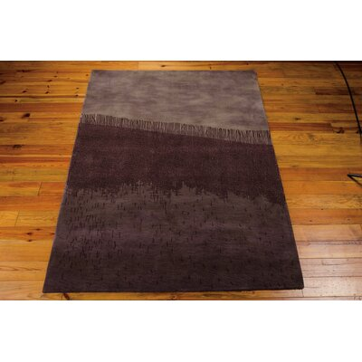 Luster Wash Fringe Ikat Orchid Area Rug Rug Size: Rectangle 83 x 11