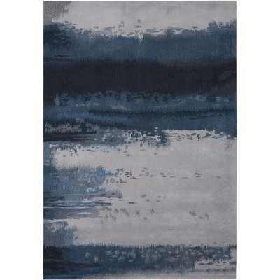 Luster Wash Handmade Blue Area Rug Rug Size: Rectangle 56 x 8