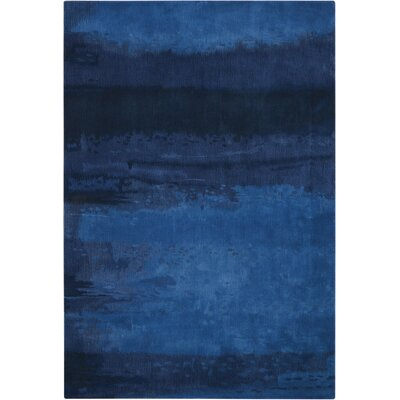 Luster Wash Handmade Blue Area Rug Rug Size: 4 x 6