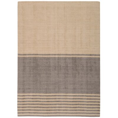 Tundra Handmade Beige/Gray Area Rug Rug Size: Rectangle 53 x 75