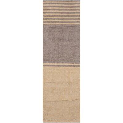 Tundra Handmade Beige/Gray Area Rug Rug Size: Runner 23 x 76