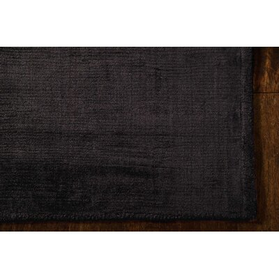 Lunar Hand-Woven Obsidian Area Rug Rug Size: Rectangle 56 x 75