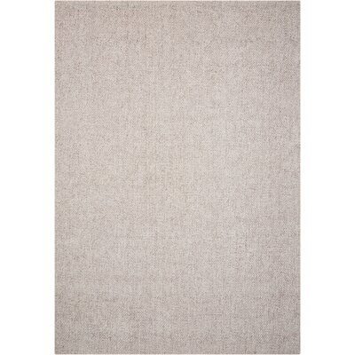 Tobiano Hand-Loomed Beige Area Rug Rug Size: Rectangle 53 x 75