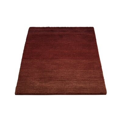 Haze Hand Woven Wool Smoke Madder Area Rug Rug Size: Rectangle 23 x 39
