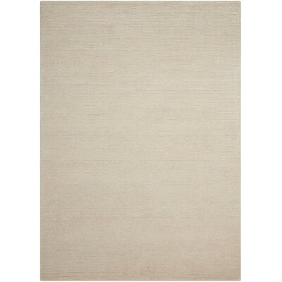 Calvin Klein Ravine Furrow Handmade Bone Area Rug Rug Size: Rectangle 53 x 75