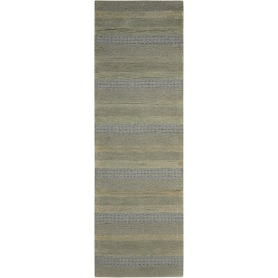 Sequoia Handmade Meadow/Gray Area Rug Rug Size: Runner 23 x 76