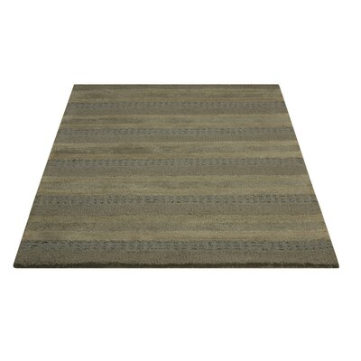 Sequoia Handmade Meadow/Gray Area Rug Rug Size: 36 x 56