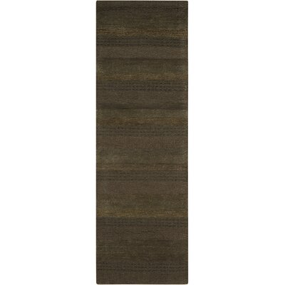 Sequoia Handmade Pine Green Area Rug Rug Size: Runner 23 x 76
