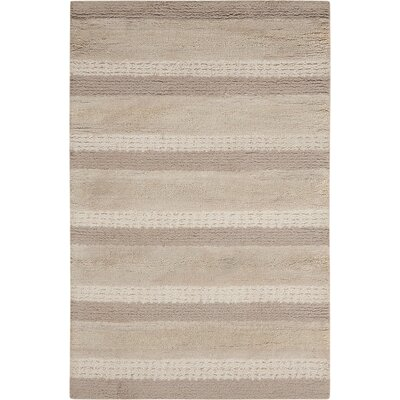 Sequoia Handmade Sand Area Rug Rug Size: Rectangle 36 x 56