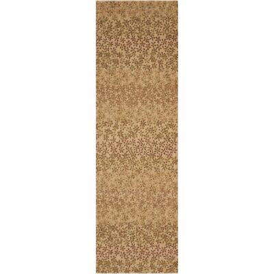 Metropolitan Wildflowers Blonde Area Rug Rug Size: Runner 23 x 76
