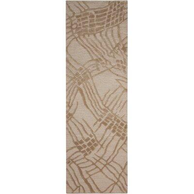Calvin Klein Home Coastal Net Hand-Woven Tusk Area Rug Rug Size: Runner 23 x 75