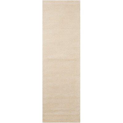 Calvin Klein Ravine Furrow Handmade Bone Area Rug Rug Size: Runner 23 x 76