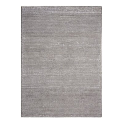 Calvin Klein Ravine Furrow Handmade Fog Area Rug Rug Size: Rectangle 53 x 75